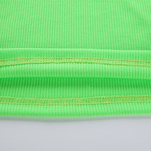 Load image into Gallery viewer, Turtleneck Tshirt Fashion Knitted Tops Autumn Winter Neon Color Ribbed T Shirt Women Long Sleeve Tee