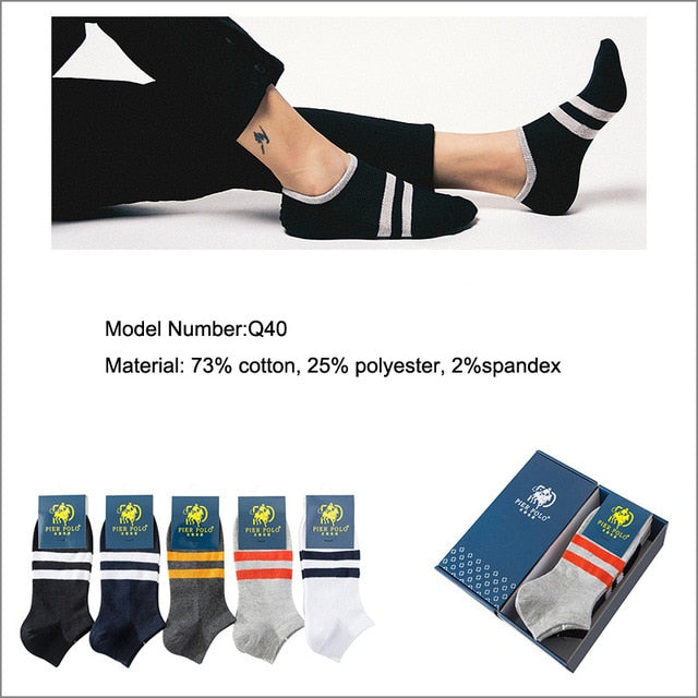 Casual Short Funny Ankle Socks Men Socks Men 5pairs/lot High Quality Brand Socks Summer Cotton Socks