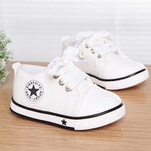 Load image into Gallery viewer, Casual Shoes For Girls Boys Black Withe Red Summer Spring Canvas Children's Shoes Star Fashion Sneakers Kids Lace-up