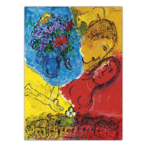 Republic of Belarus Marc Chagall Lovers Home Decor Print Canvas Art Wall Pictures Salon  Poster Paintings