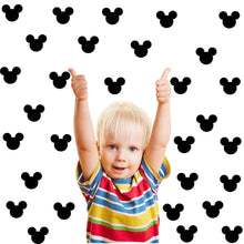 Load image into Gallery viewer, Wall Sticker For Kids Room Cute Minnie Mouse  88pcs/set Cartoon Mickey Mouse Head Shape Poster Self-adhesive Label Wall Decals