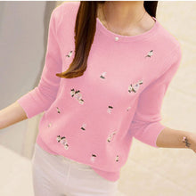 Load image into Gallery viewer, Pullover Female Jumper Pull Women Autumn Sweater Women Embroidery Knitted Winter Women Sweater