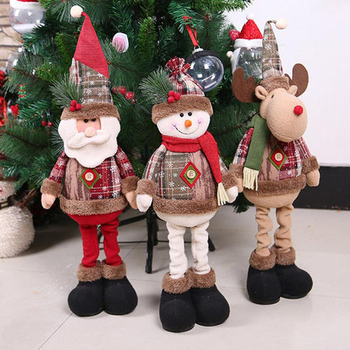 Decorations For Home  Merry Christmas Ornaments Christmas Gift Santa Claus Snowman Tree Toy Doll Hang