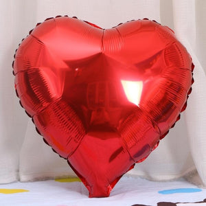 Valentines Wedding Decoration Helium Balloon Boy Girl Birthday Party Supplies 5pcs 18inch Rose Gold Red Star Heart Foil Balloons