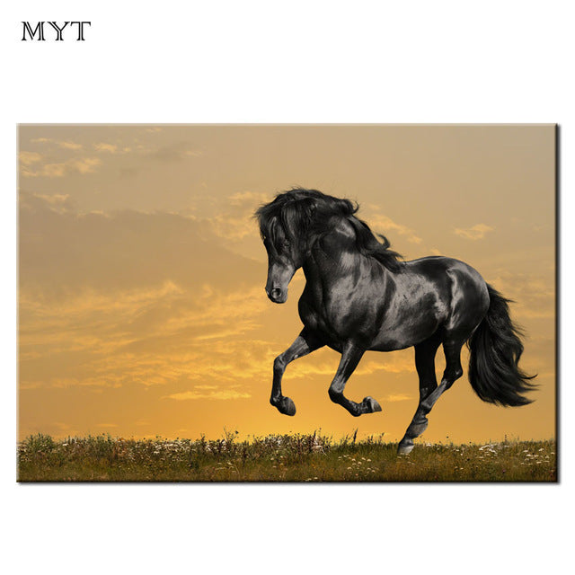 Running horses Wall Art Picture Painting Fashion Large Size HD spray print Oil Painting Canvas Prints Home Decor Wall Art Picture