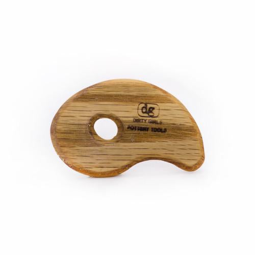 Ergonomic throwing rib made of Red Oak. Made in Kentucky.