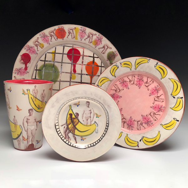 July 2 - 6: Creating Personalized Dinnerware using Collage with Wesley Harvey