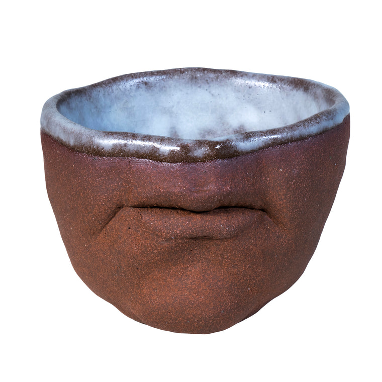 Red Stoneware Mouth Cup / Adrian Arleo