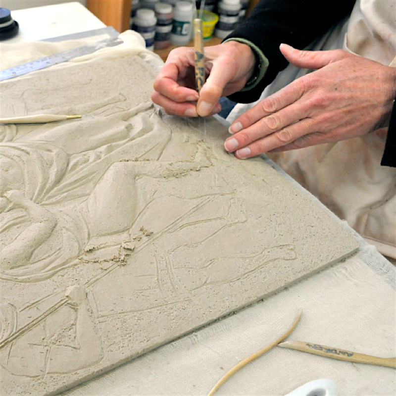 8 WKS/THU 10:00 AM - 1:00 PM: Bas Relief with Andrea Pichaida