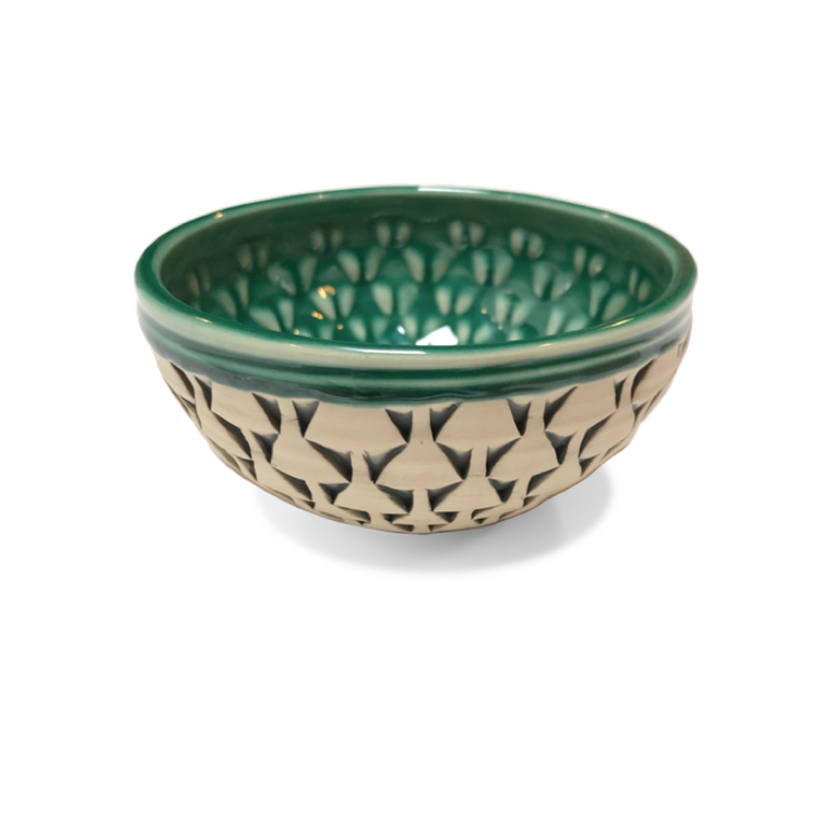 Beige & Green Bowls / Clay Hicks