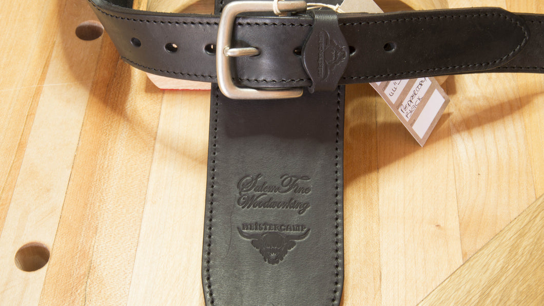Imported Kes Tor Leather Guitar Strap - Peppercorn