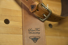 Imported Kes Tor Leather Guitar Strap - Curry