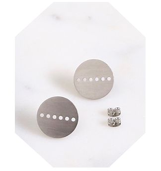 Circle cut out stud