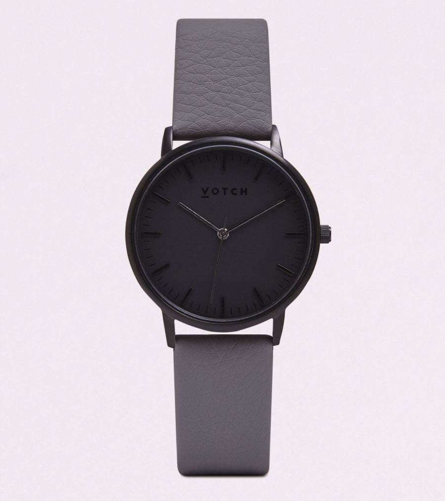 VOTCH NEW COLLECTION - BLACK WITH SLATE GREY STRAP