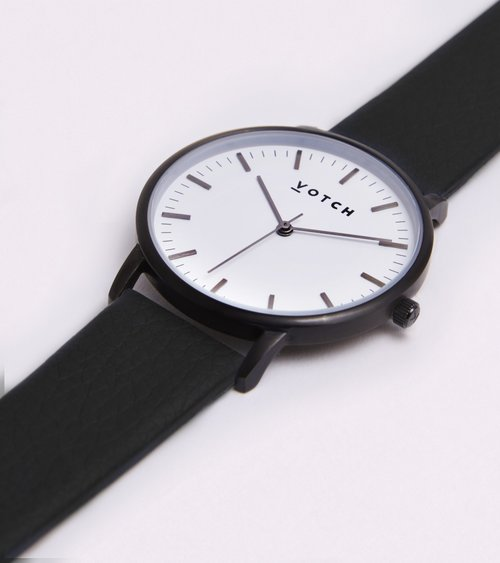 VOTCH NEW COLLECTION - BLACK AND WHITE WITH BLACK STRAP