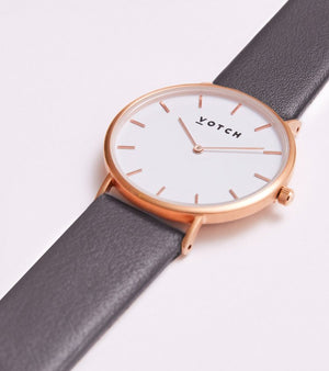 Votch Classic - Dark grey and Rose Gold