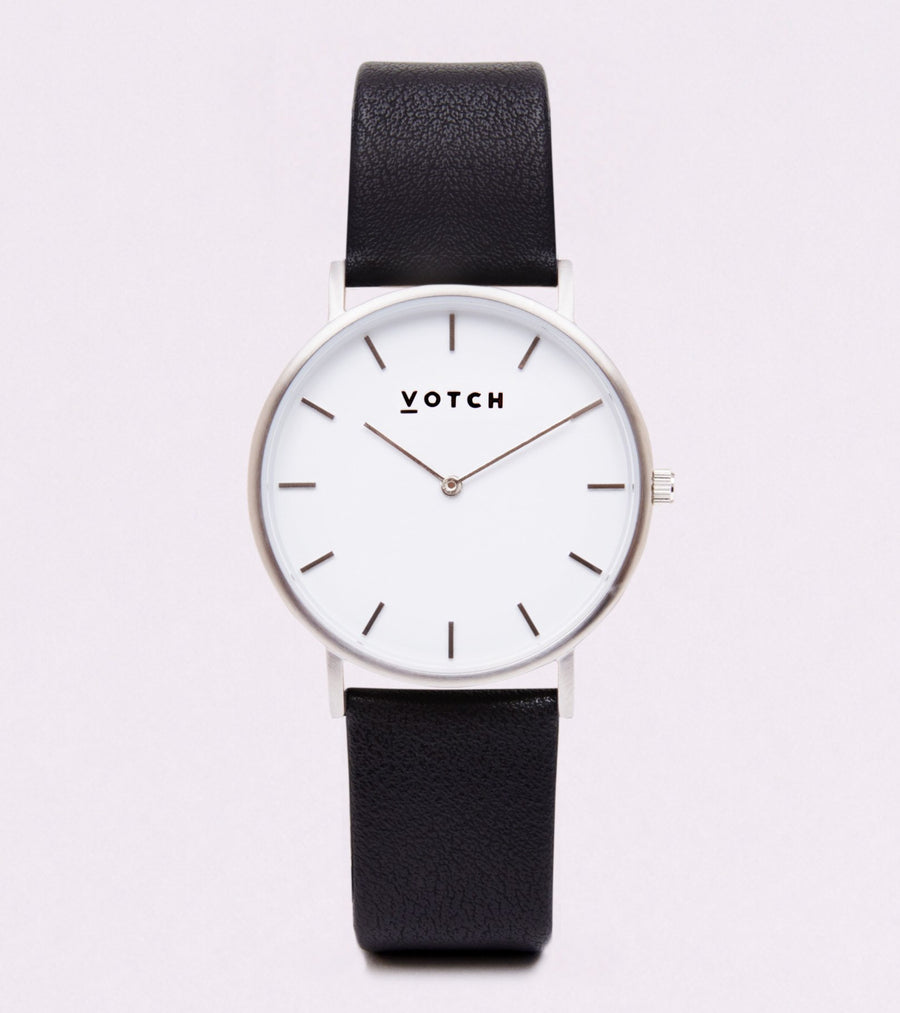VOTCH CLASSIC - SILVER AND WHITE WITH BLACK STRAP