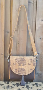 Sweet Pea Saddle Bag- Cork