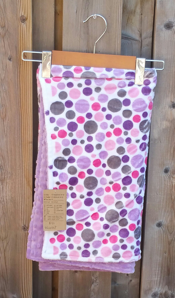 Double Minky Crib Blanket