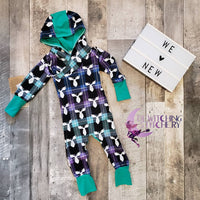 Grow On- Hooded Romper