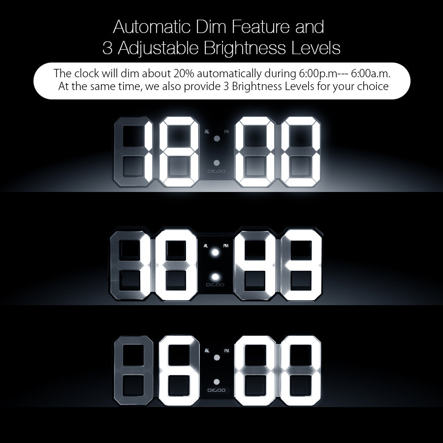 3d led digital wall clock pivotdeal 3d led digital wall clock amipublicfo Images