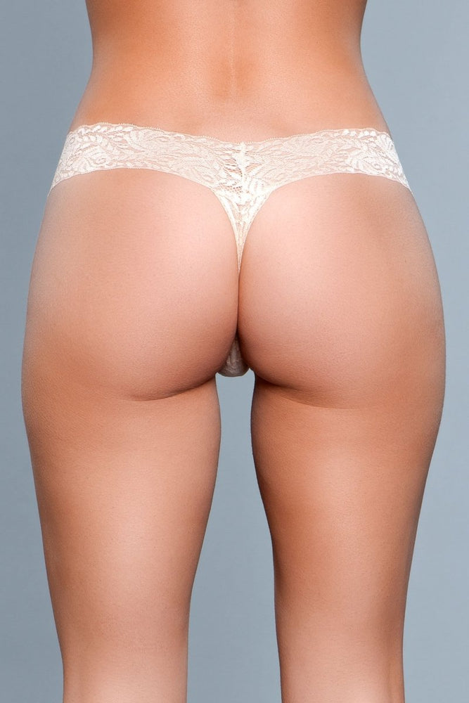 BW1160N V Cut Lace Panties - Nude