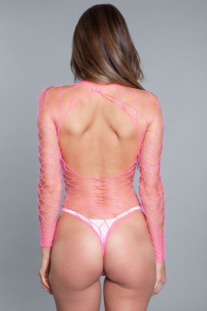 1909 Dancing All Night Bodystocking Hot Pink