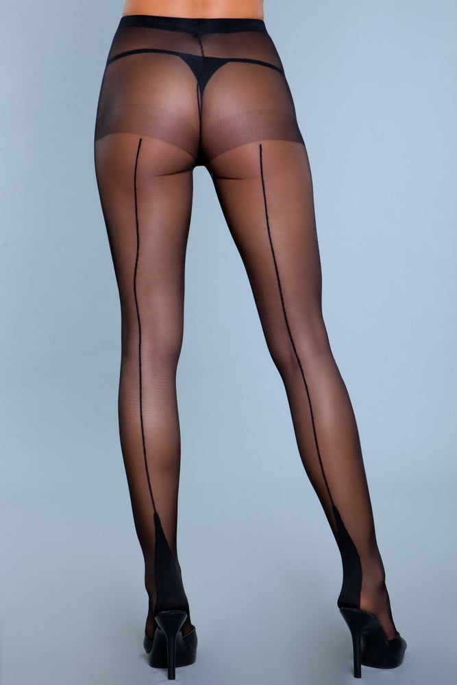 1925 Ring My Line Pantyhose Black
