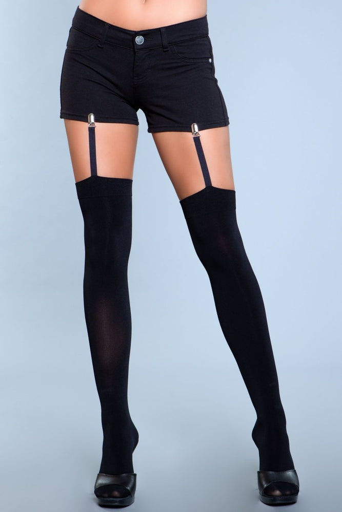 1928 Hanging On Clip Garter Thigh Highs