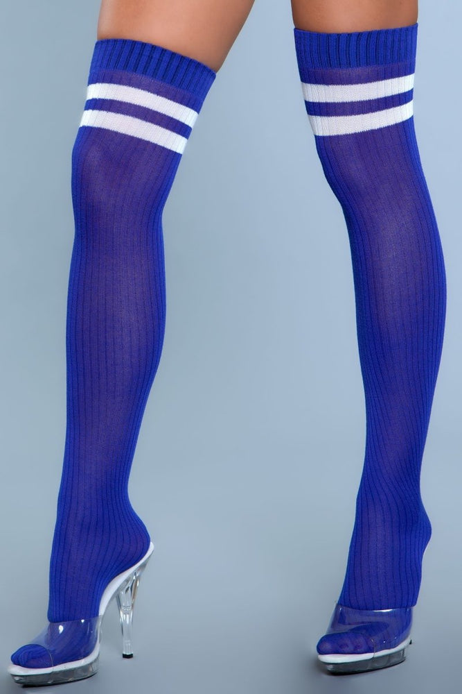 1936 Going Pro Thigh Highs Blue