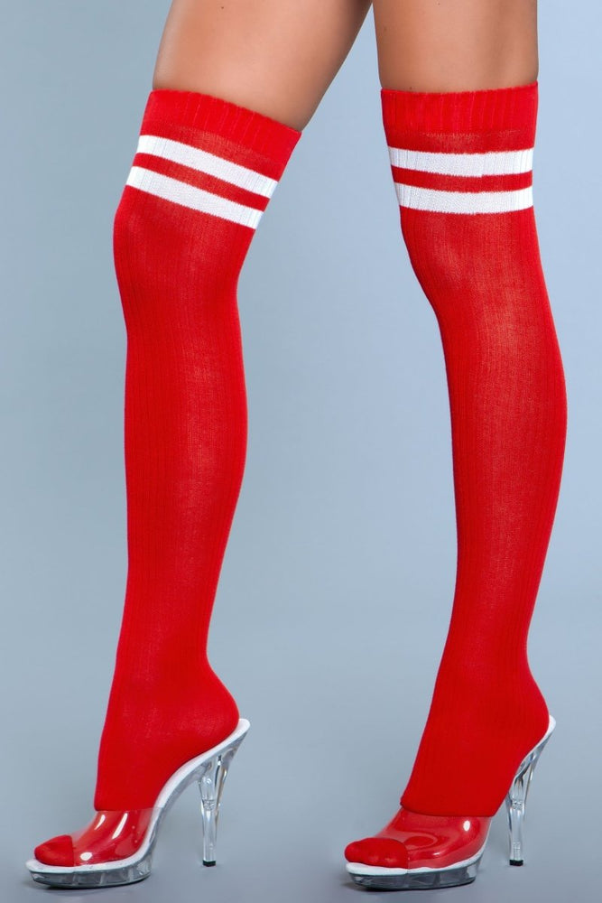 1936 Going Pro Thigh Highs Red
