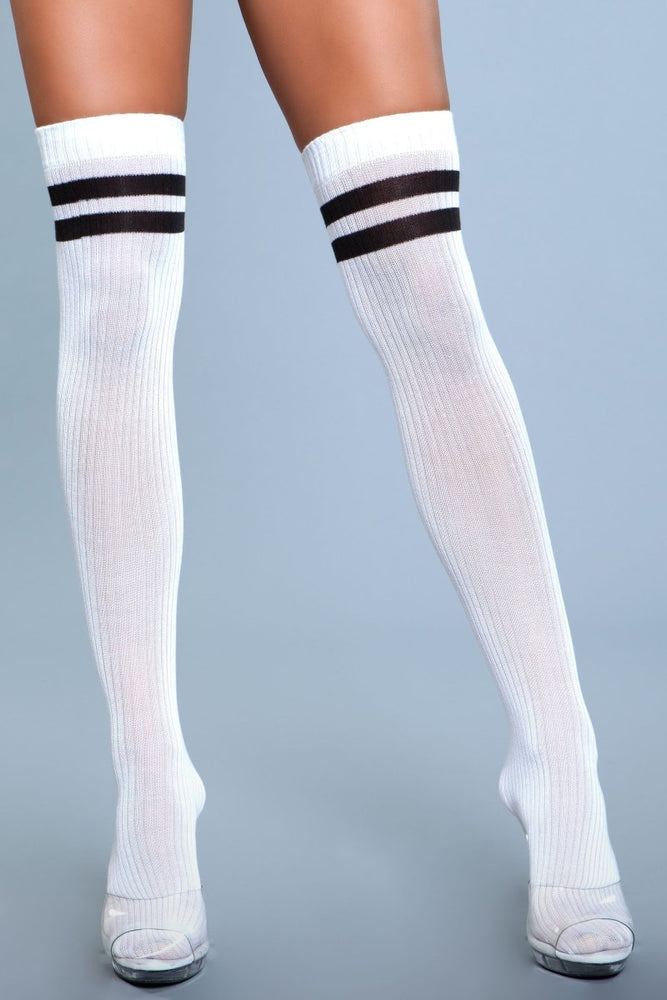 1936 Going Pro Thigh Highs White