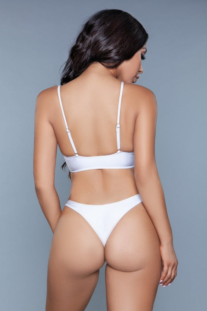 1975 Gianna 2 Piece Swimsuit White