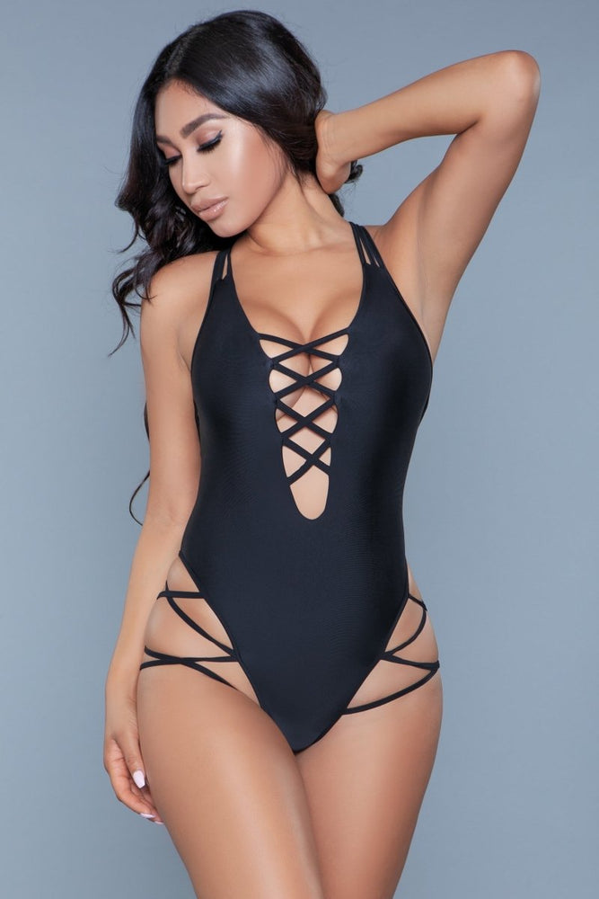 1977 Amaya Swimsuit Black