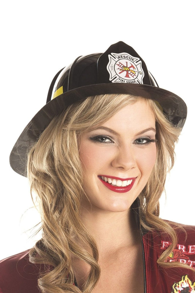BW0710BK Fire Fighter Hat - Black