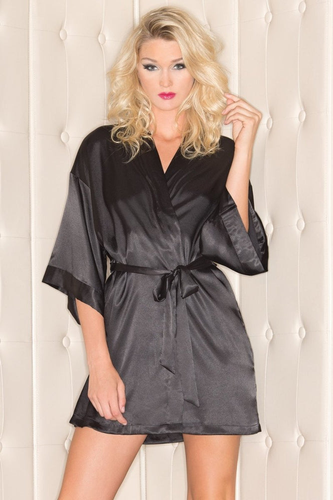 BW1525 Getting Ready Robe - Black