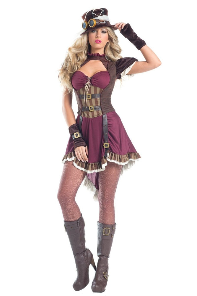 BW1548 5 Piece Steampunk Rider Costume
