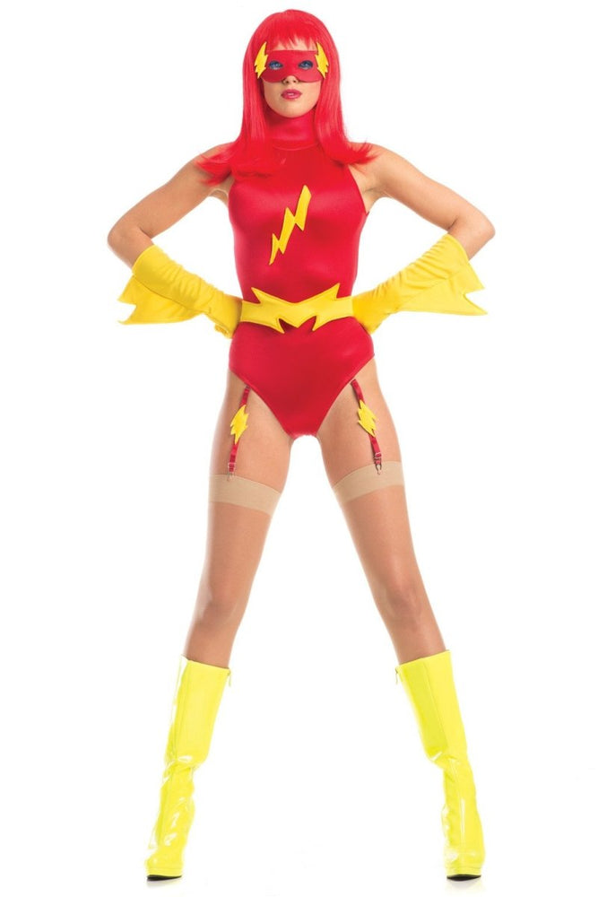BW1608 5 Piece Feisty Flash Costume