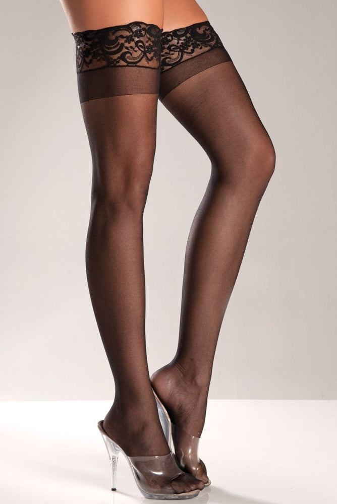 BW563 Be Gentle Lace Top Thigh Highs