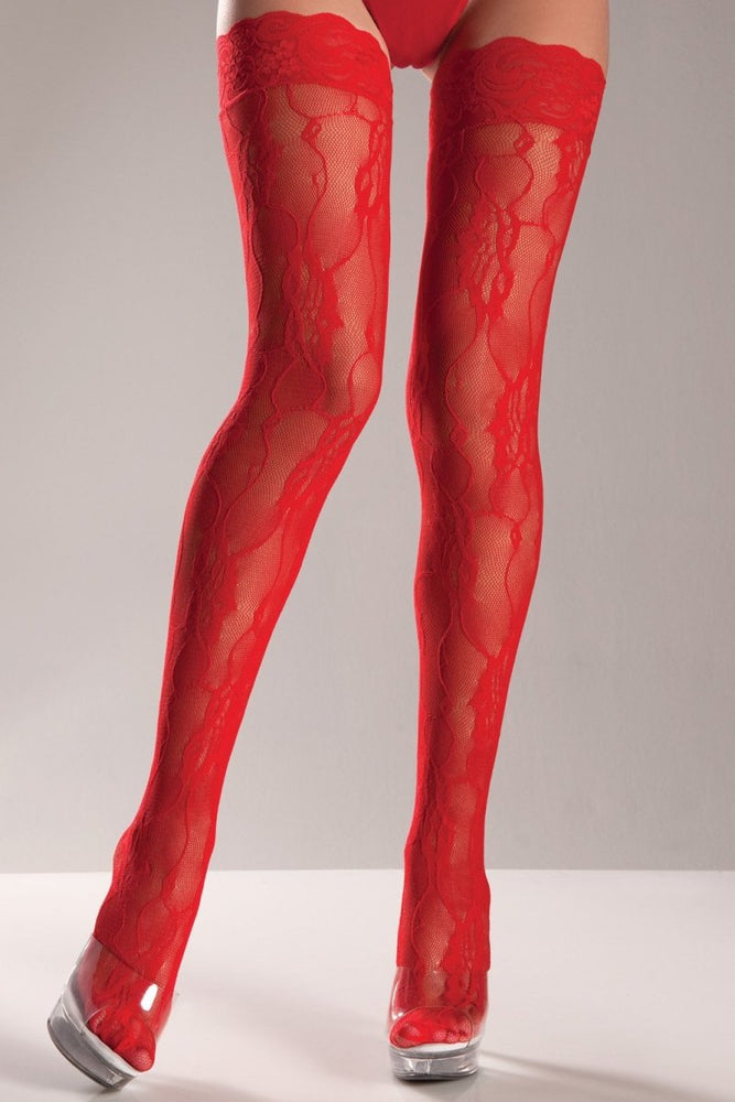 BW610 Fancy Lace Thigh Highs