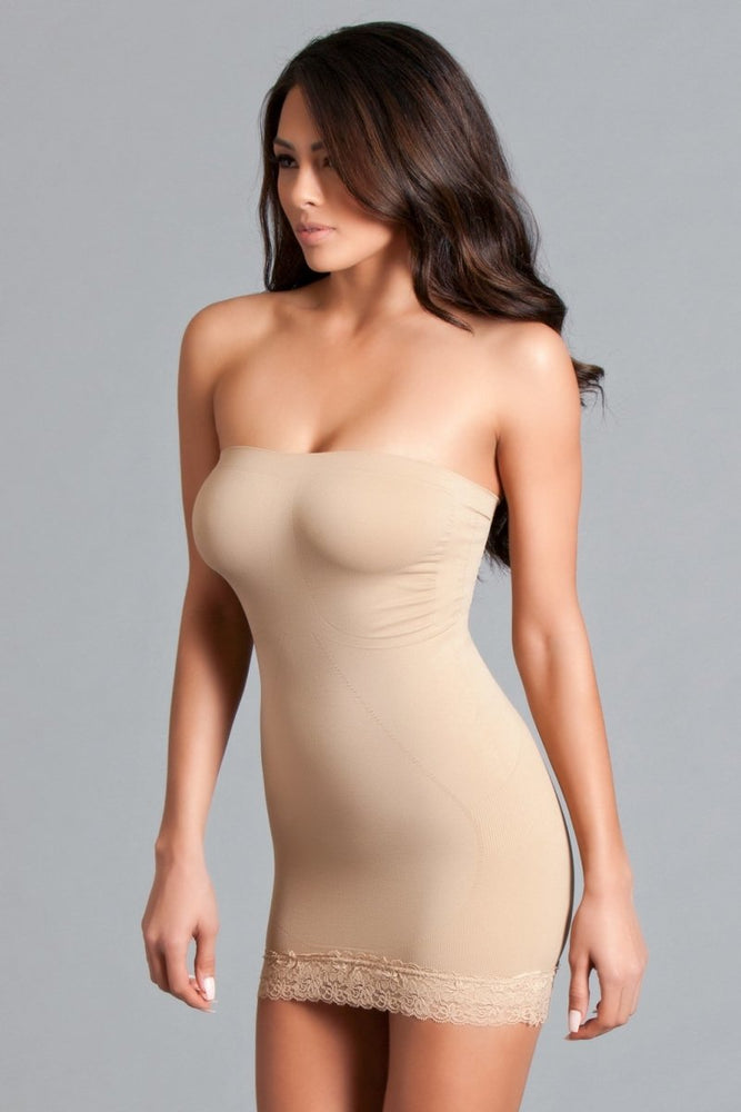 BWY18ND Tube Shapewear Dress - Nude