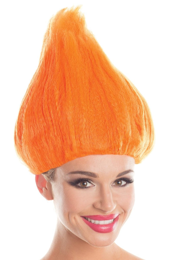 BW099OR Troll Wig Unisex Orange