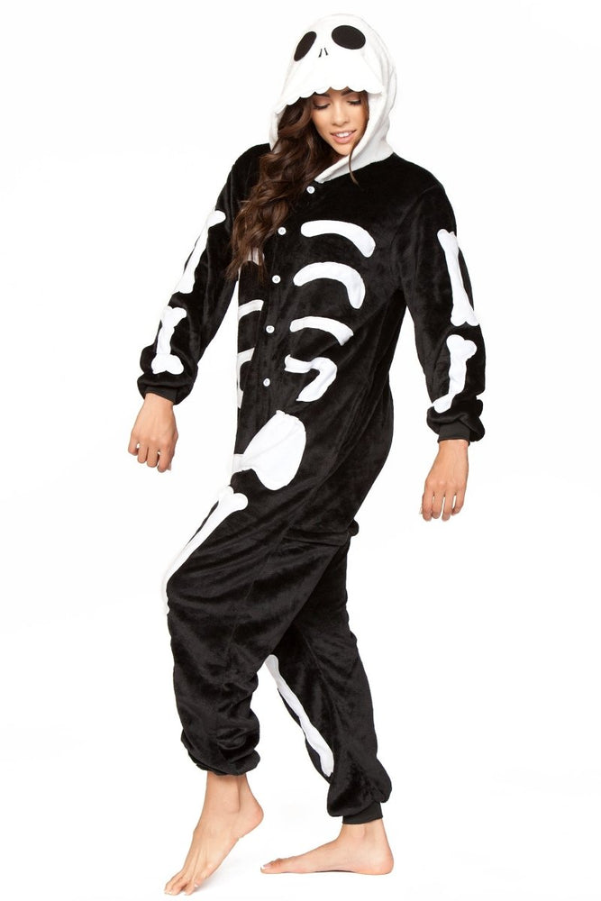C1807 SKELETON Adult Onesie
