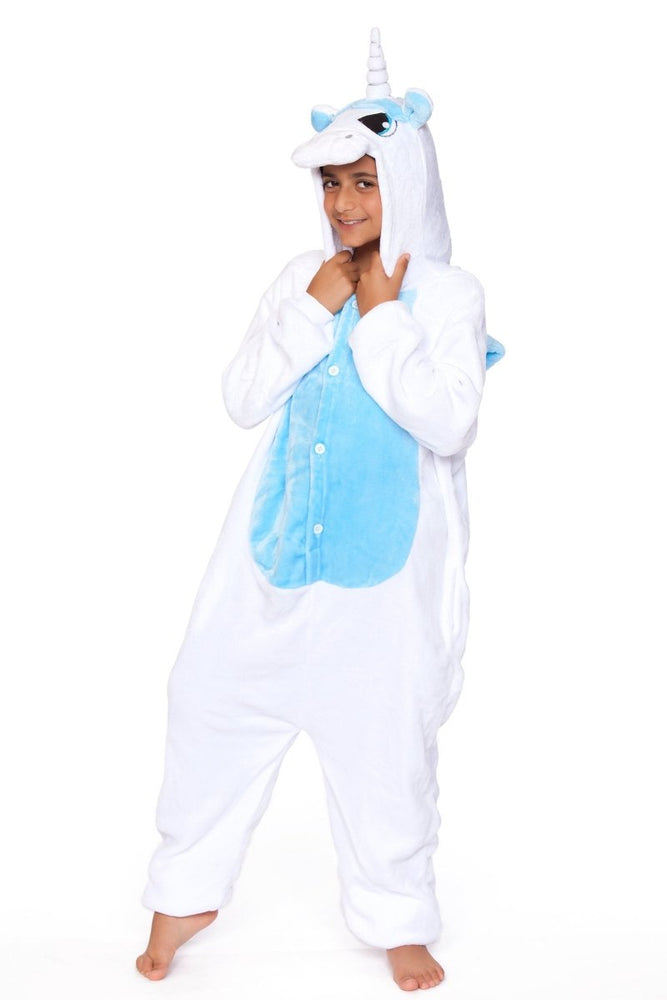 C1818-C WHITE UNICORN Child Onesie