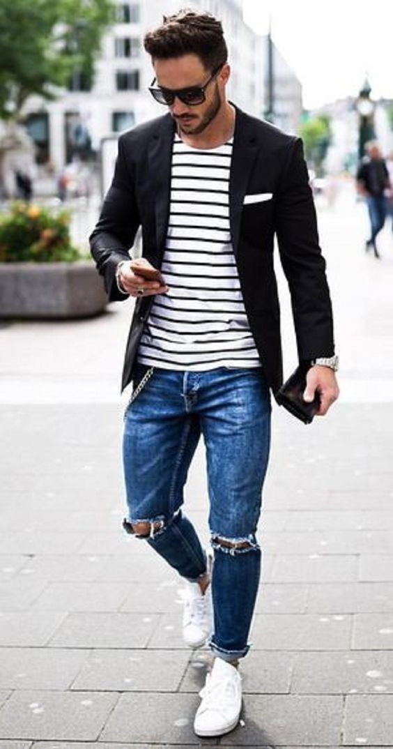 10 Coolest Ripped Jeans Outfit Ideas For Men u2013 PS 1983