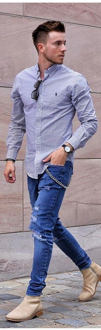 fancy outfits with ripped jeans guys