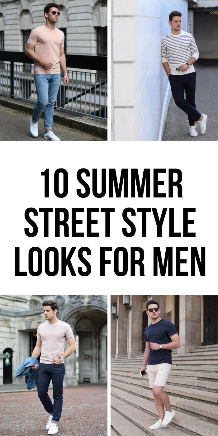 Want to look sharp this summer without sweating? Look no further. Try these 10 summer street style looks to look great. #summer #streetstyle #casual #outfitideas