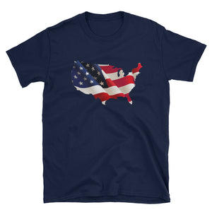 The USA 3D Flag Patriotic Tee