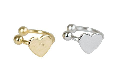 Basic heart piercing-AAT , heart piercing, heart jewelry, heart shape piercing, heart shape jewelry, heart jewellry, Barbells, Body Jewelry, body piercing, curved barbells,fake pie