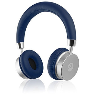 Audiomate BT905 Lightweight Wireless Bluetooth Stereo On-Ear Metal Headphones w/ Incredible HD Audio and 12 Hour Battery (Blue)